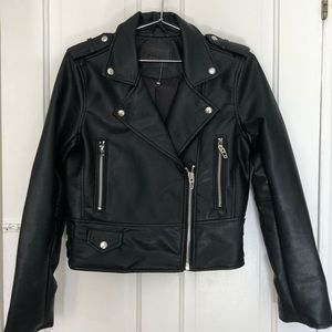 Blank NYC faux leather jacket- size small.